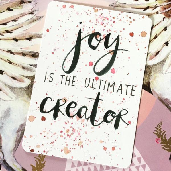 La alegría crea abundancia