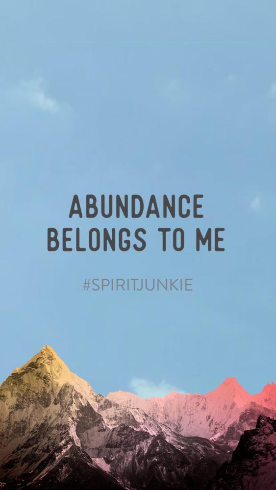La abundancia me pertenece