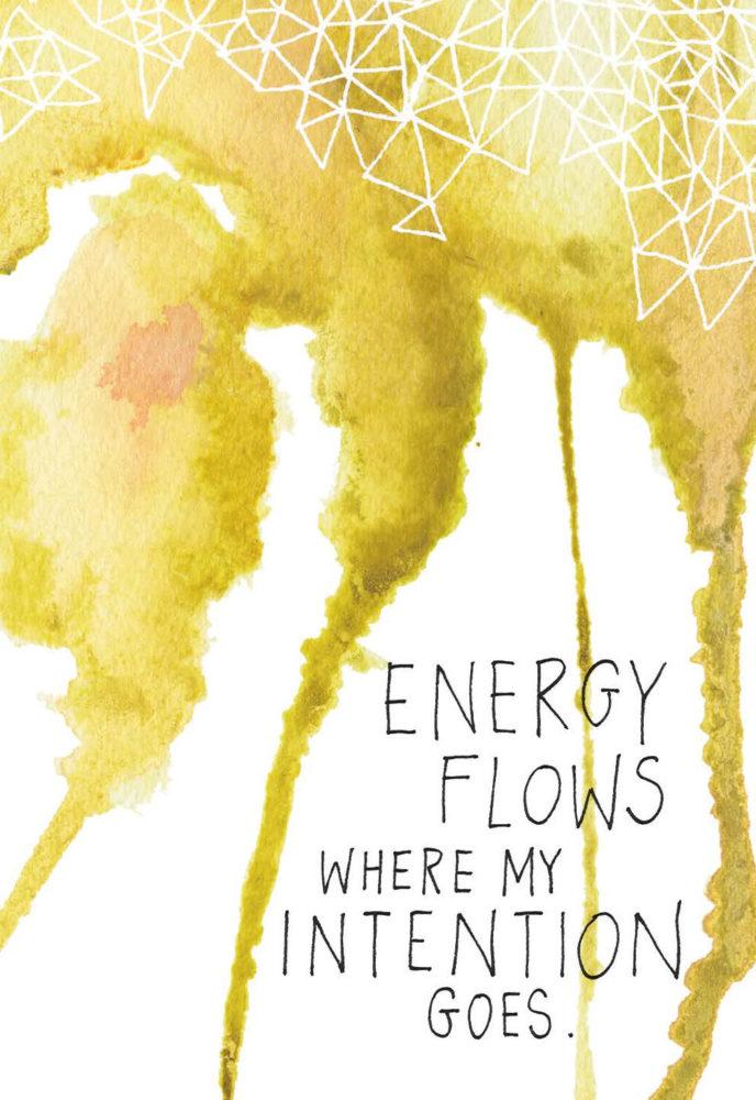 La energía fluye hacia donde pongo intención